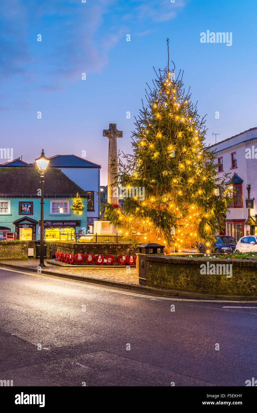 L'arbre de Noël d'Arundel Photo Stock