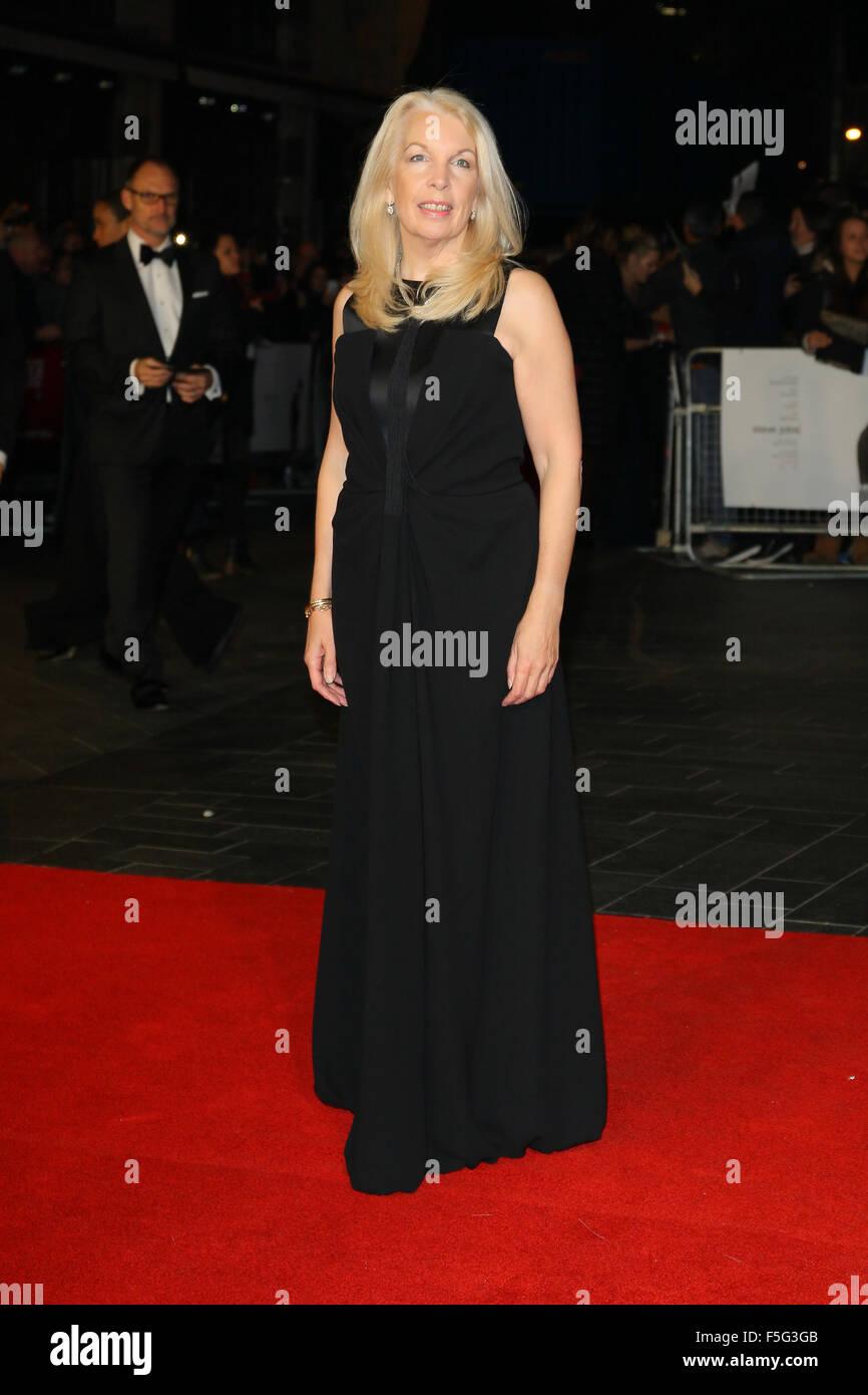 Londres, Royaume-Uni, le 18 Oct 2015: Amanda Nevill assiste à la Steve Jobs premiere et la soirée de clôture, 59e Banque D'Images