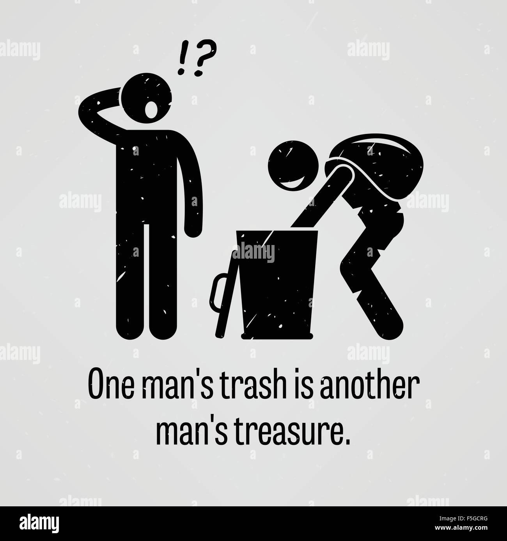 La corbeille d'un seul homme est un autre homme Treasure Photo Stock