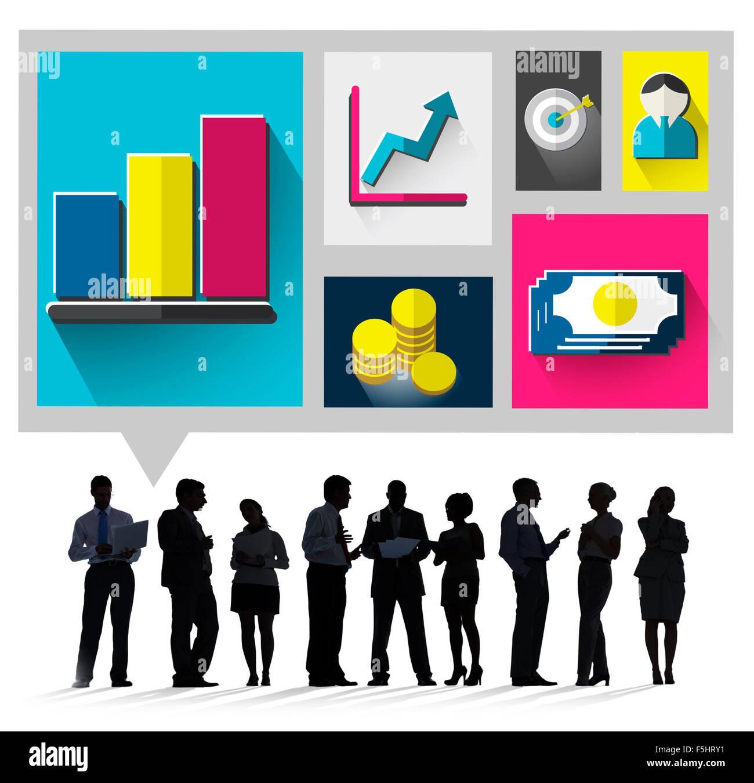 La croissance de l'entreprise succès du concept d'Économie Finances Photo Stock