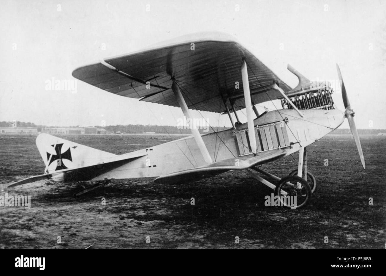 Albatros C I avec aile photo Nowarra expérimental Banque D'Images