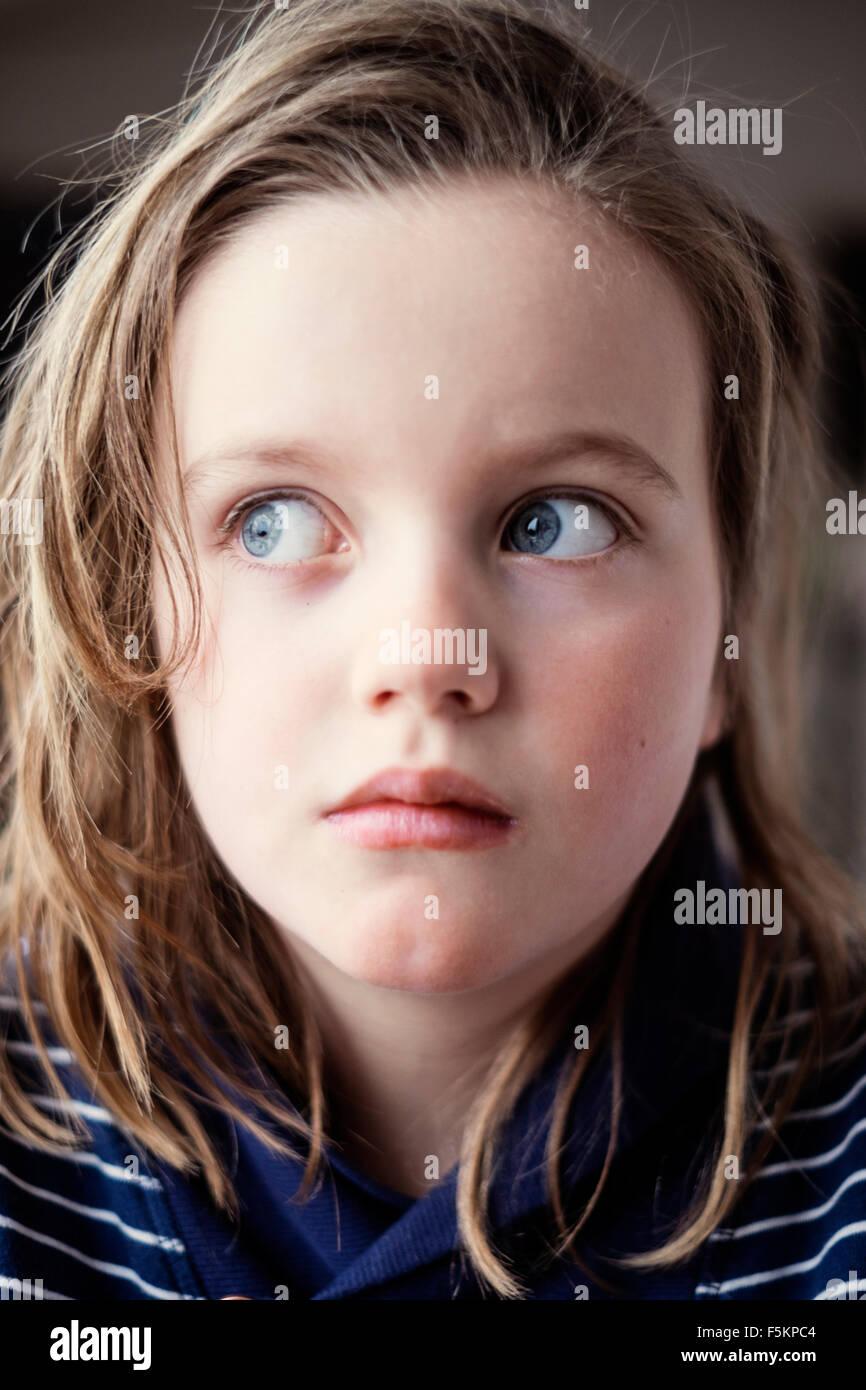 La Suède, Portrait of Girl (8-9) Photo Stock