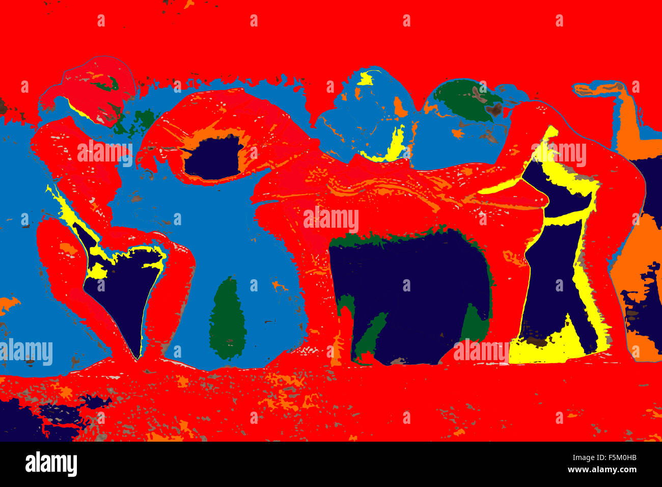 L'art abstrait peinture, Inde, Asie Photo Stock