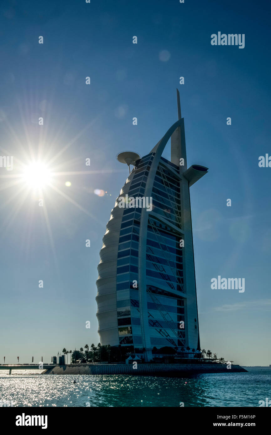 Dubaï. La tour Burj Al Arab Photo Stock