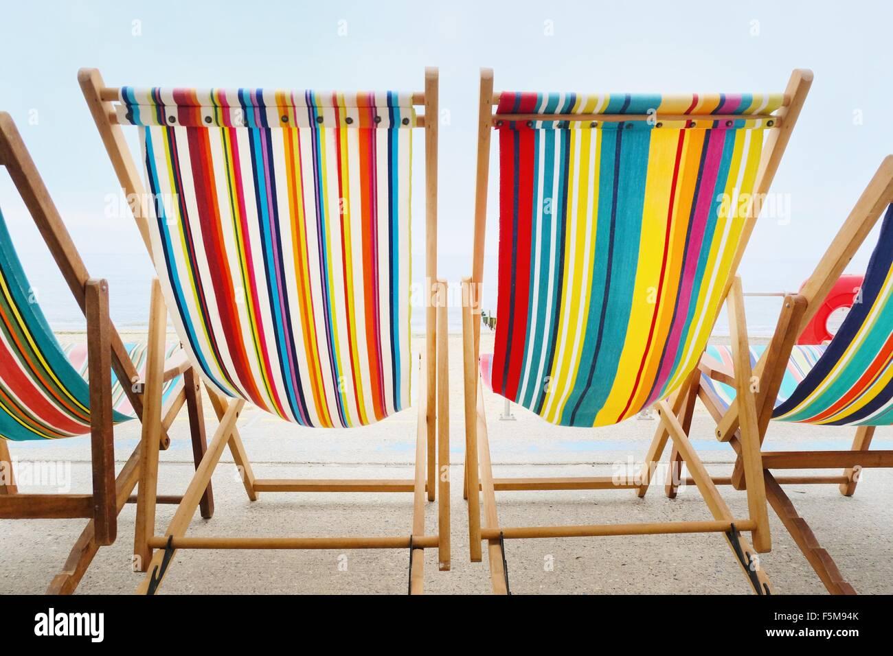 Chaises vides dans une rangée Photo Stock