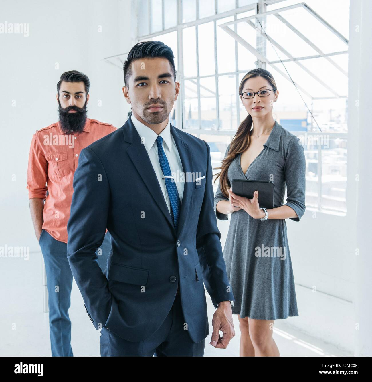 Portrait des gens d'affaires Photo Stock