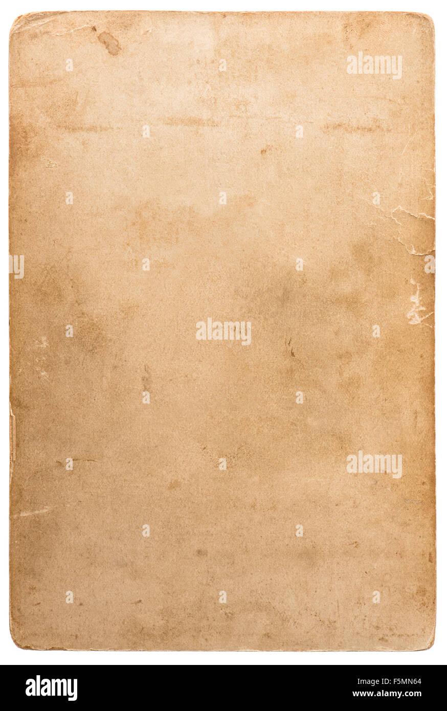 Texture carton photo utilisé. Objet d'album. Vieux papier avec des bords de feuille Photo Stock