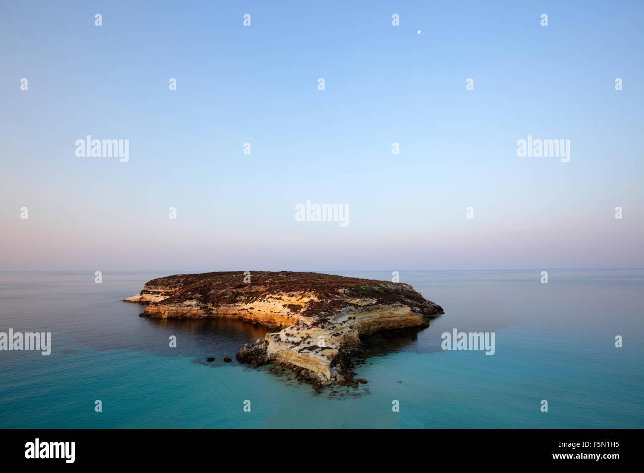 L'île aux lapins à Lampedusa, Sicile, Italie Photo Stock