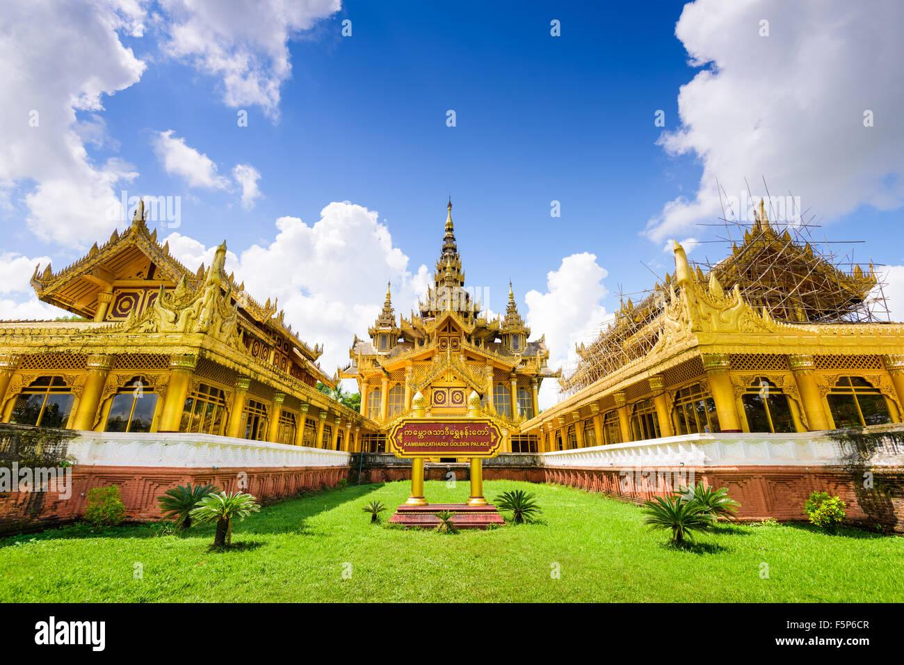 Bago, le Myanmar à Kambawzathardi Golden Palace. Photo Stock