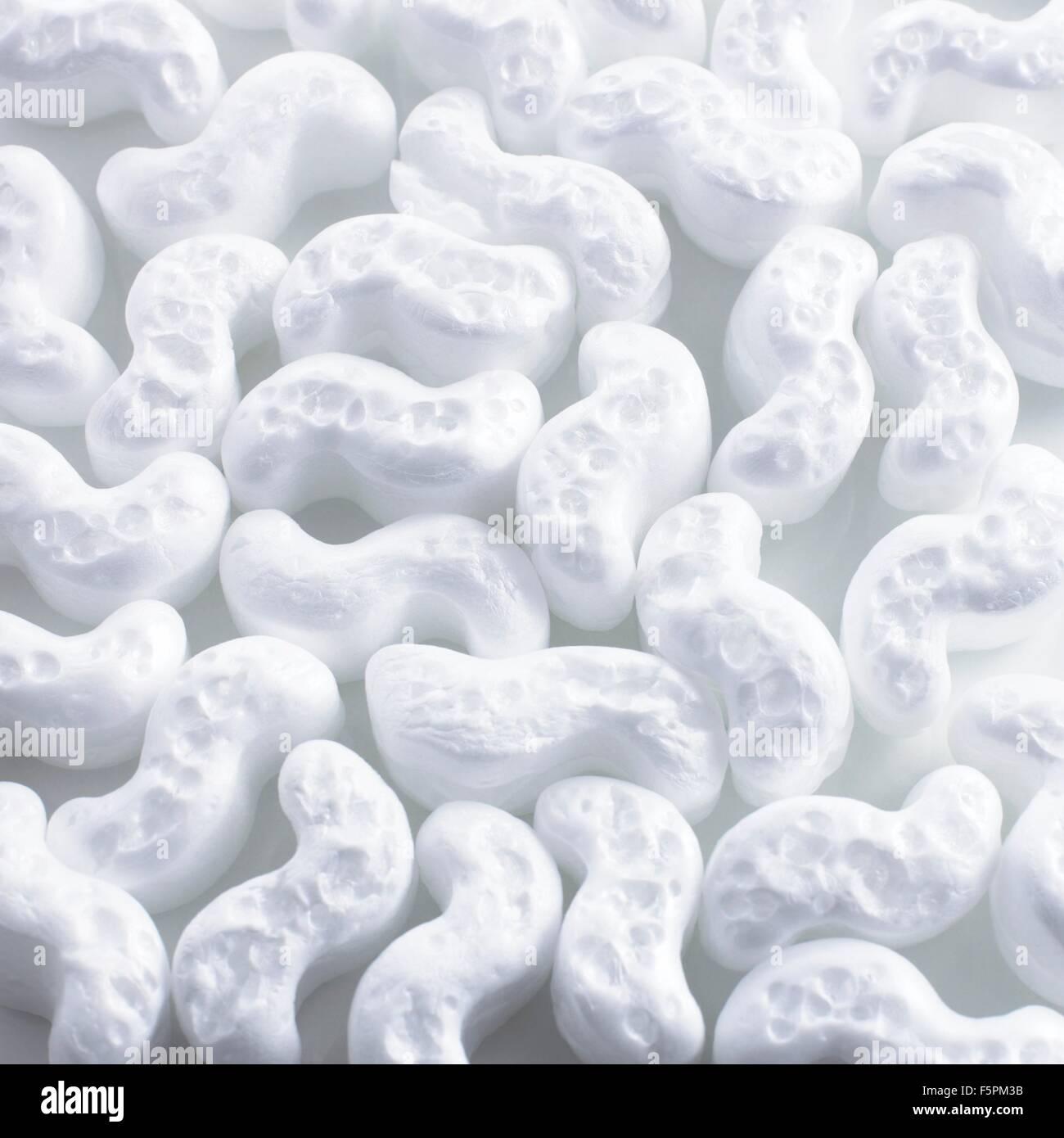Matériaux d'emballage en polystyrène. Photo Stock