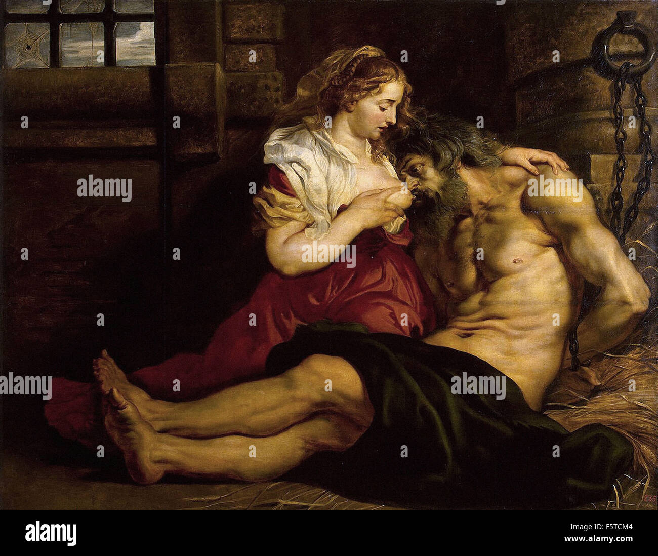 Peter Paul Rubens - Charité Romaine Photo Stock