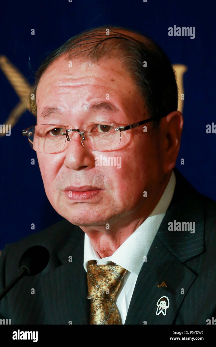 Choe Okuno Président de JA Zenchu (les Japonais Union centrale des coopératives agricoles) prend la parole Photo Stock