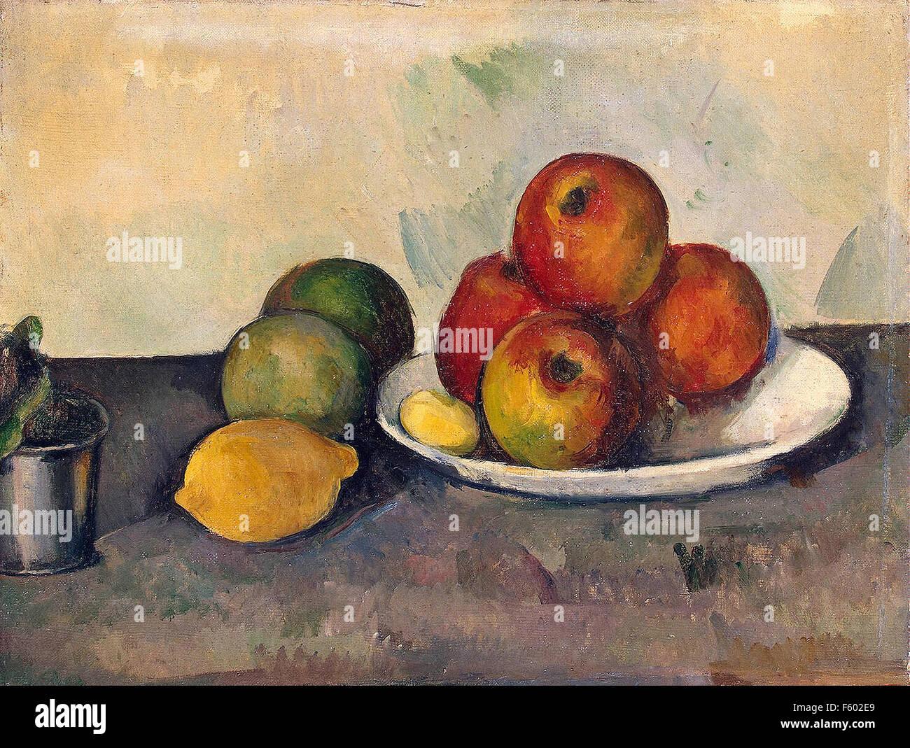 Paul Cézanne - Nature Morte aux pommes Photo Stock