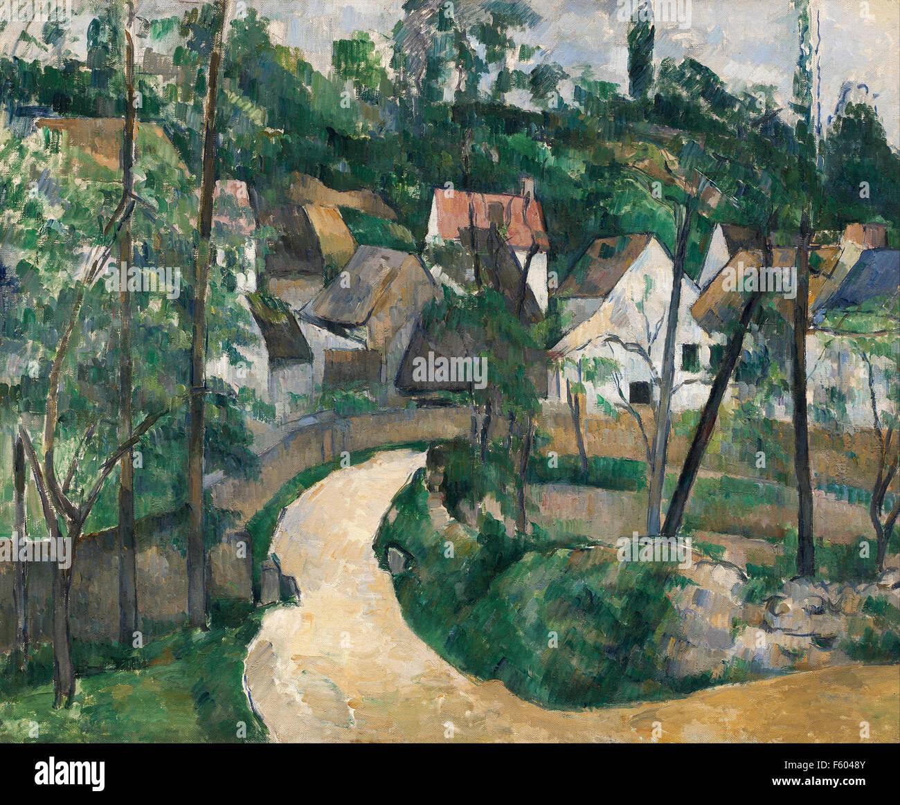 Paul Cézanne - tournez dans la route Photo Stock