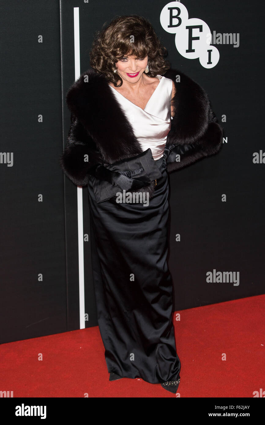 Le British Film Institute's LUMINOUS dîner de gala organisé à Guildhall - Arrivées avec: Joan Collins Où: London, Banque D'Images