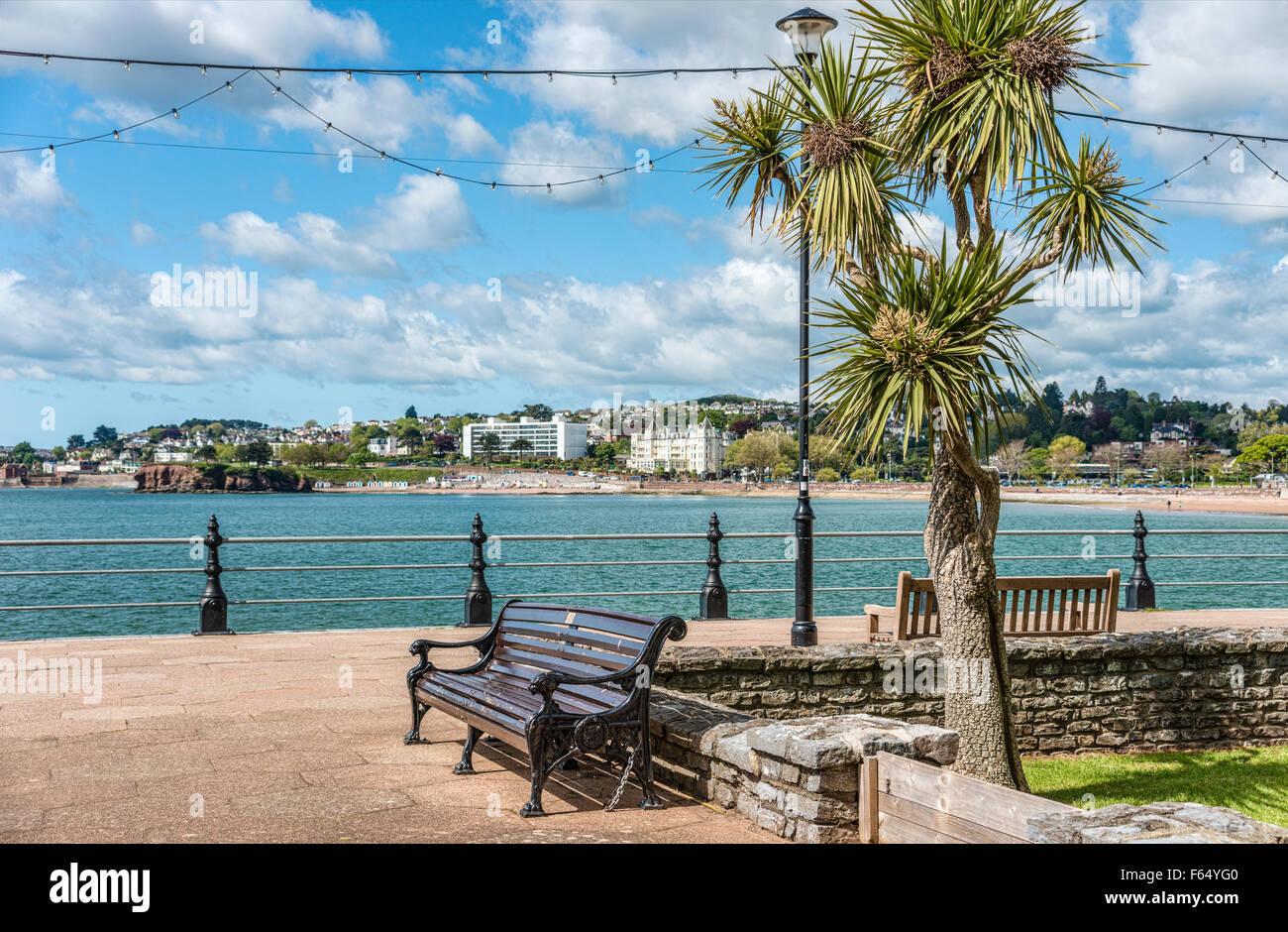 Défilé du port de Torquay, Torbay, England, UK   Hafenpromenade von Torquay, Torbay, England, UK Photo Stock