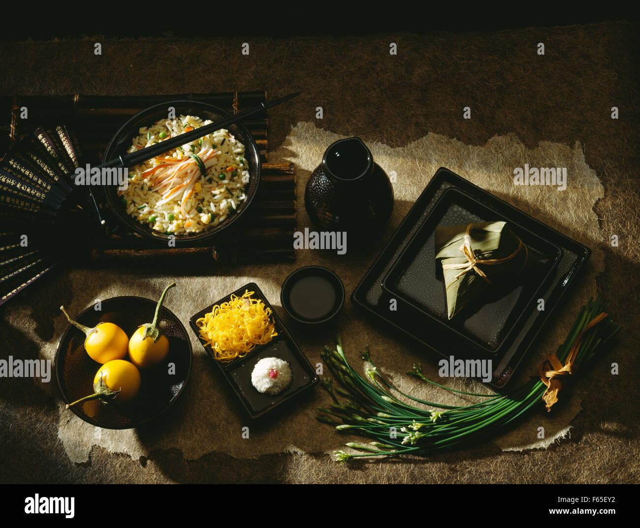 Menu japonais Banque D'Images