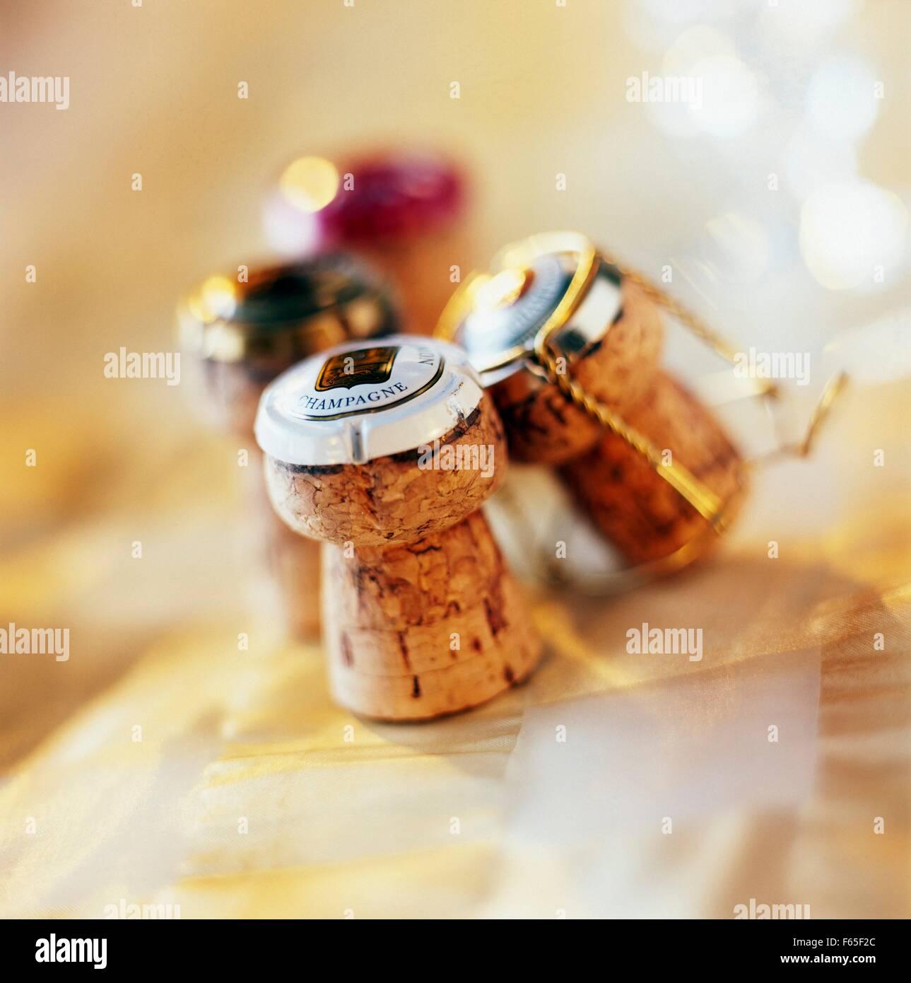 Bouchons de Champagne Banque D'Images