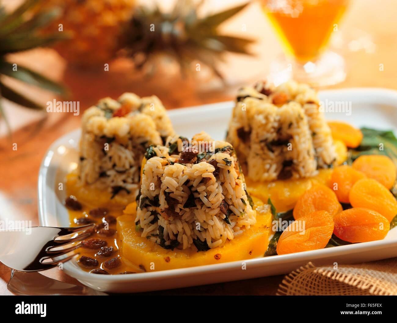 Sans poignée de riz à l'ananas Banque D'Images