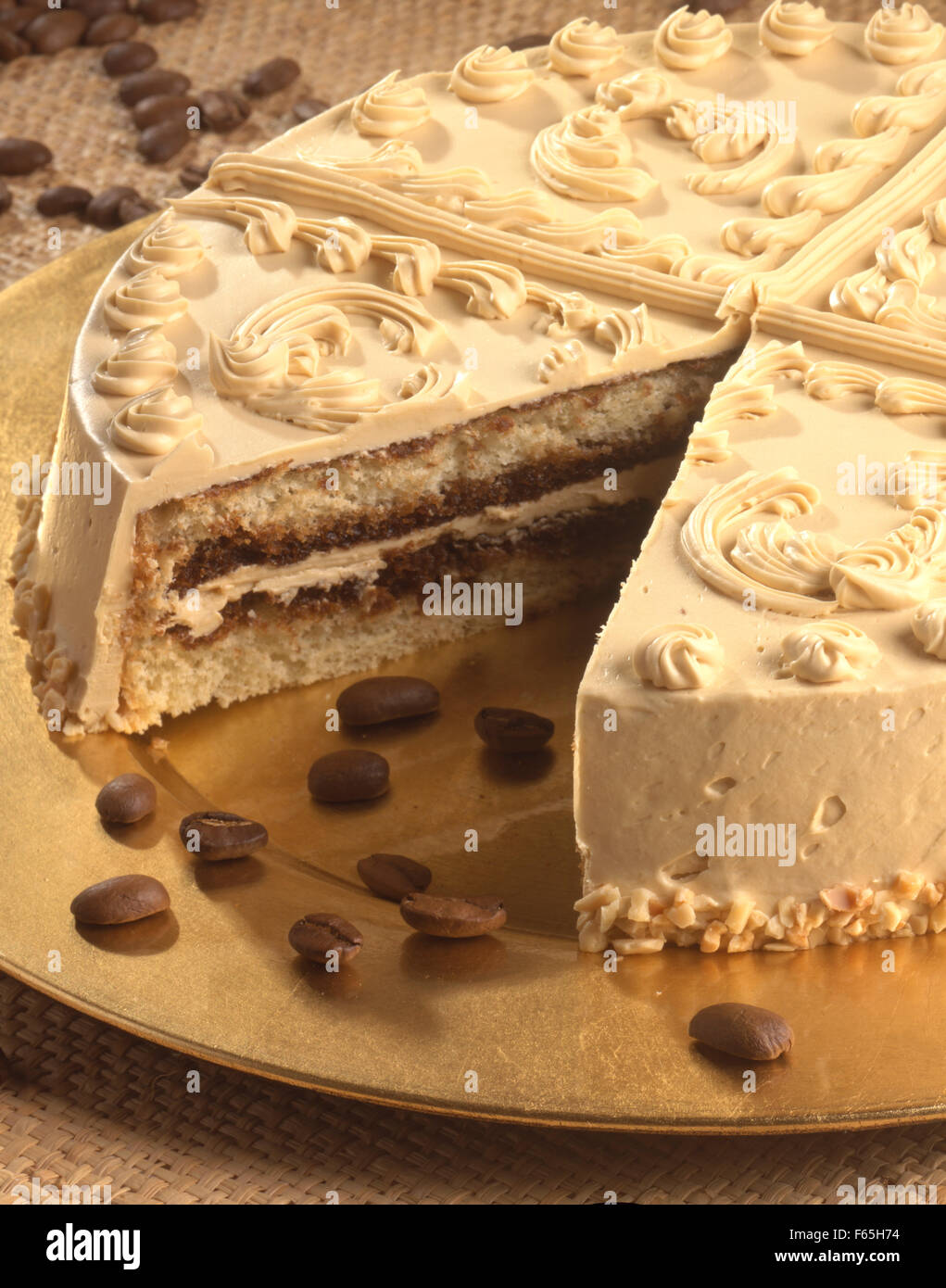 Gâteau moka Banque D'Images