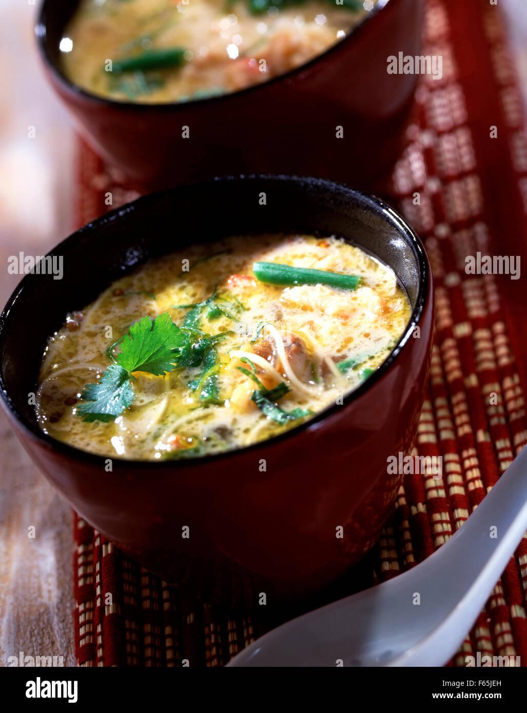 De style thaïlandais, soupe au crabe Banque D'Images