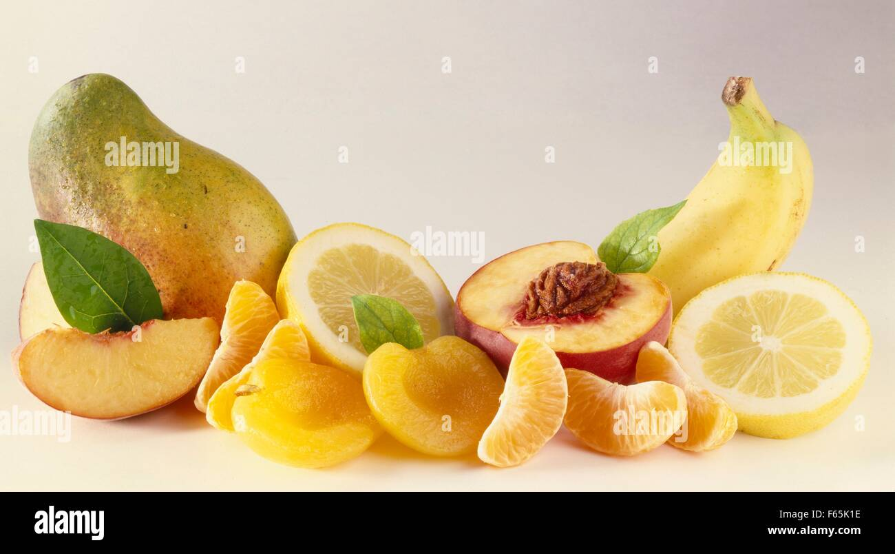 Sélection de fruits Banque D'Images