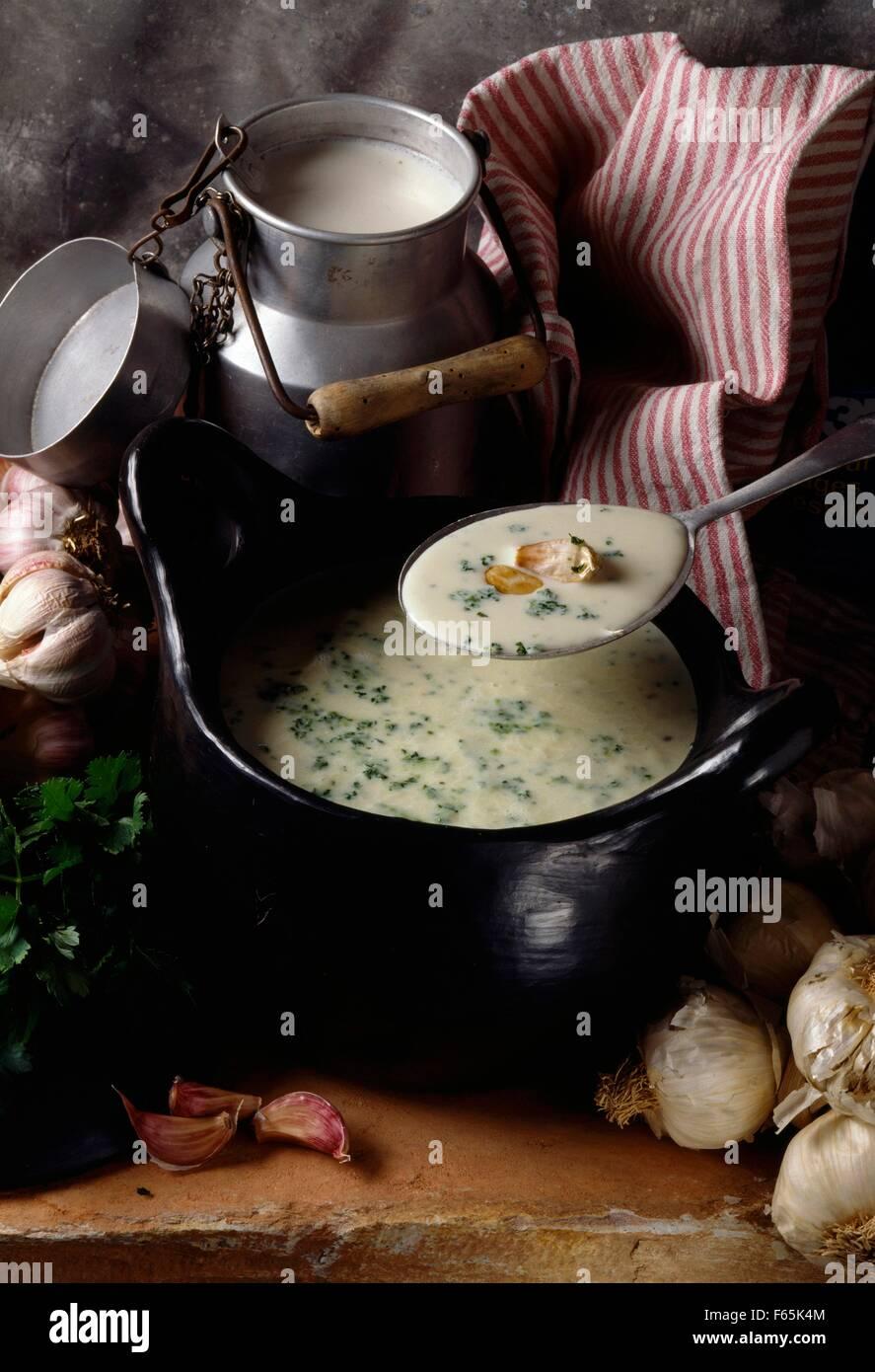Soupe aux herbes Banque D'Images