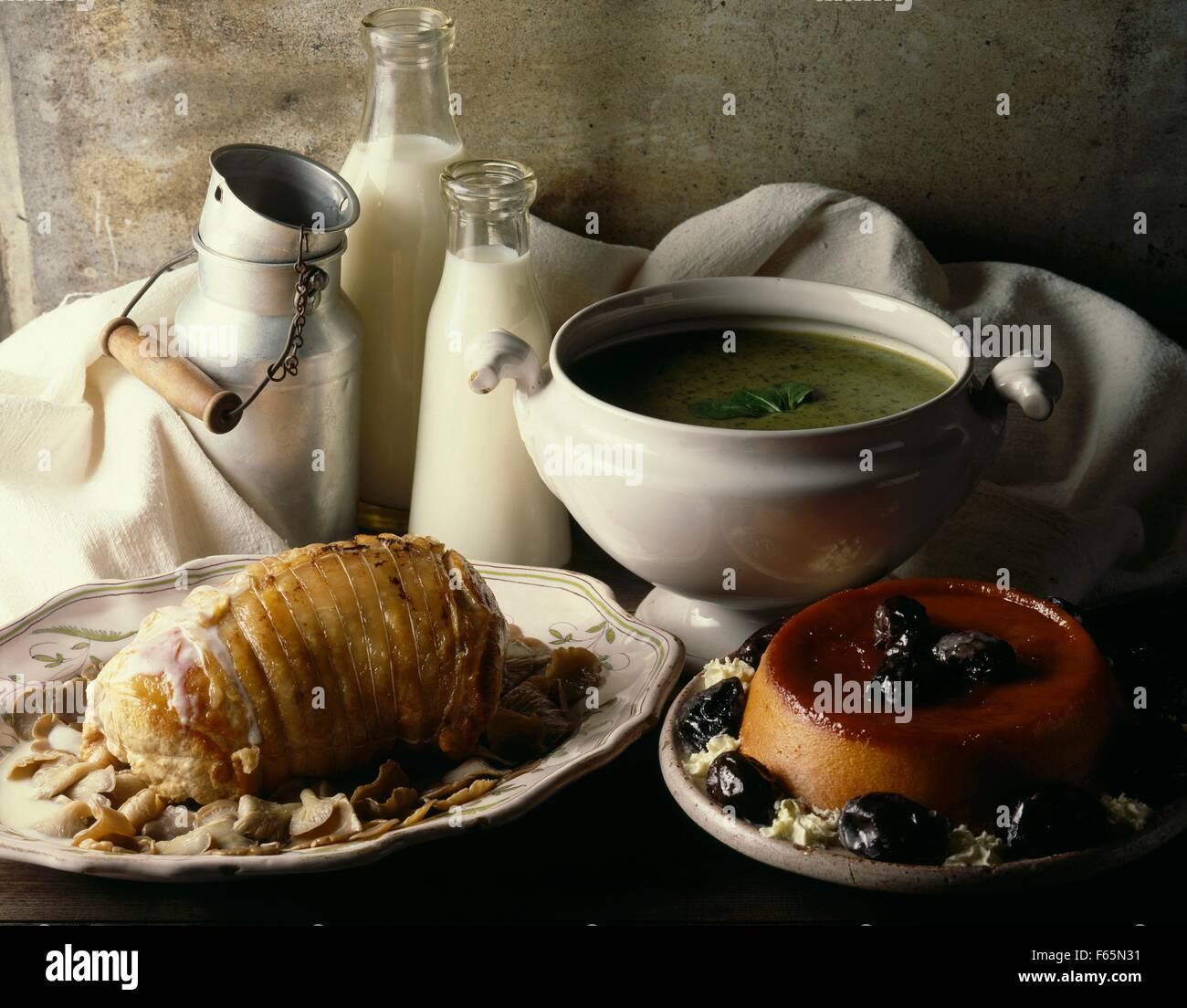 menu automne Banque D'Images