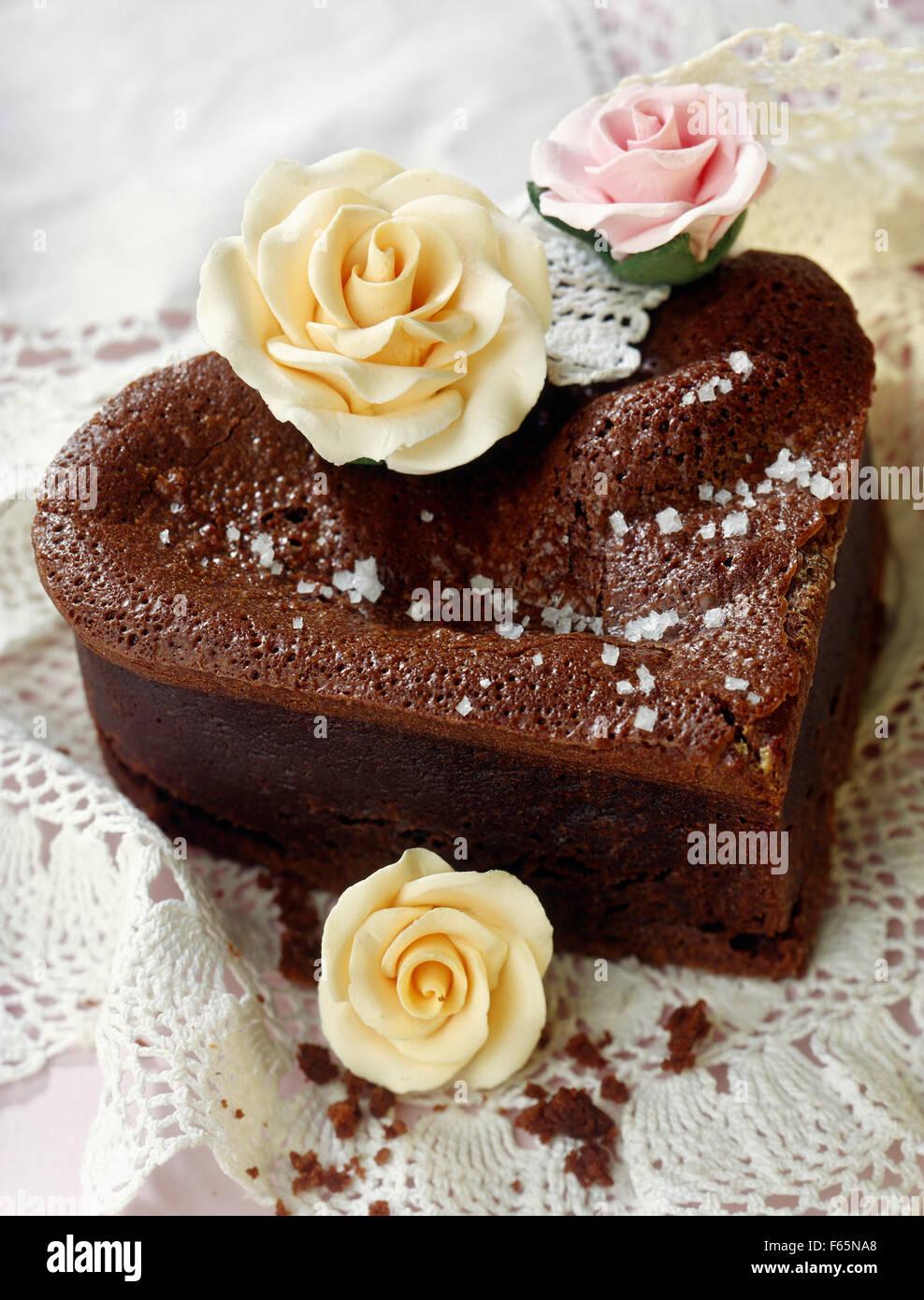 Gâteau de chocolat Banque D'Images
