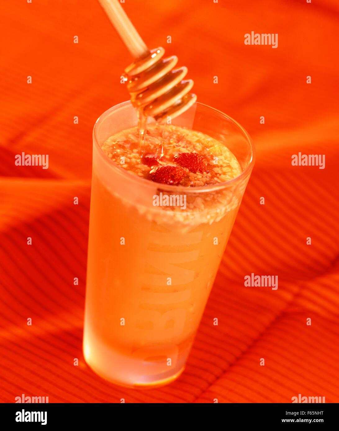 Cocktail d'Ananas au miel Banque D'Images