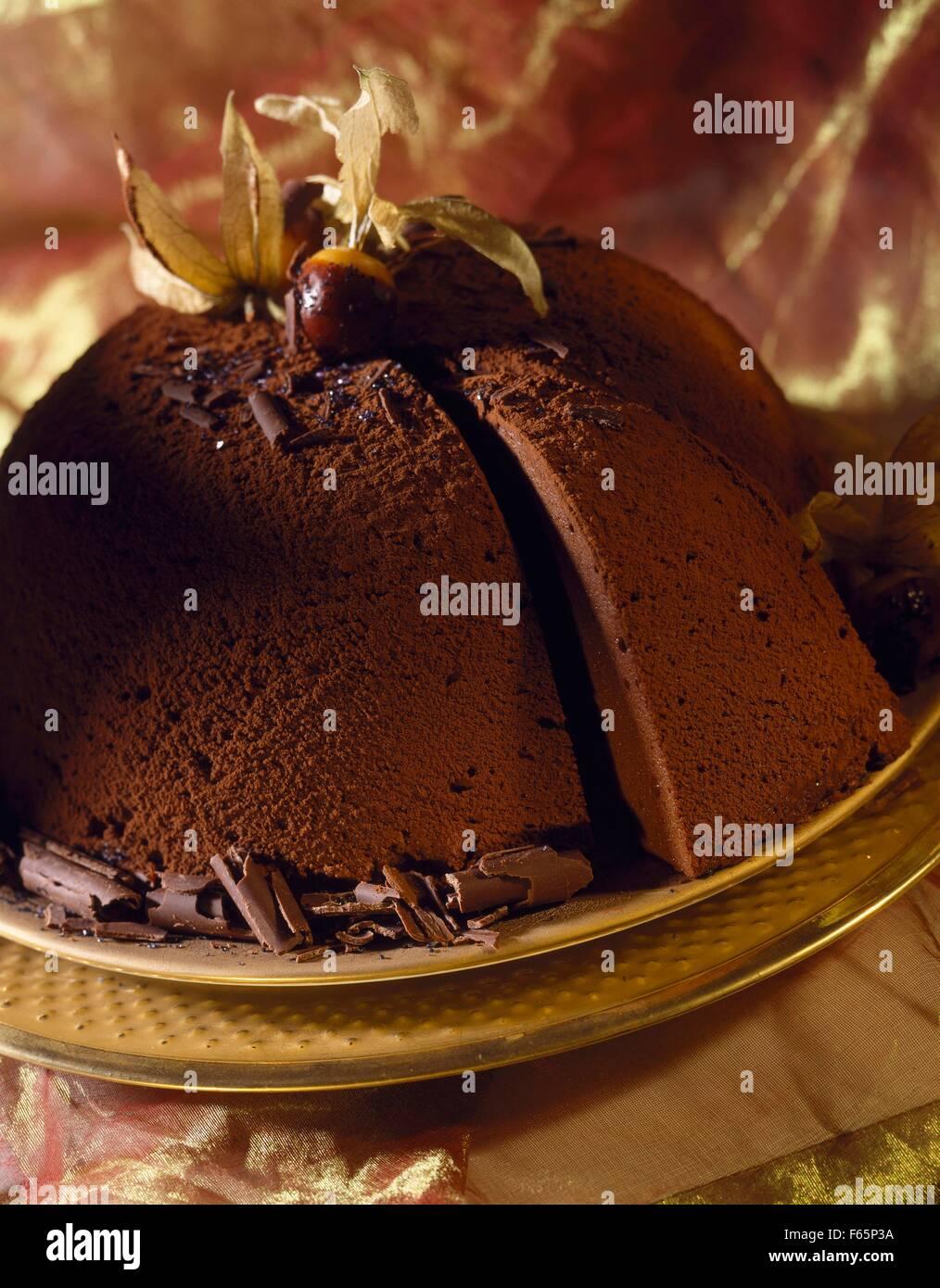 Gâteau au chocolat Banque D'Images