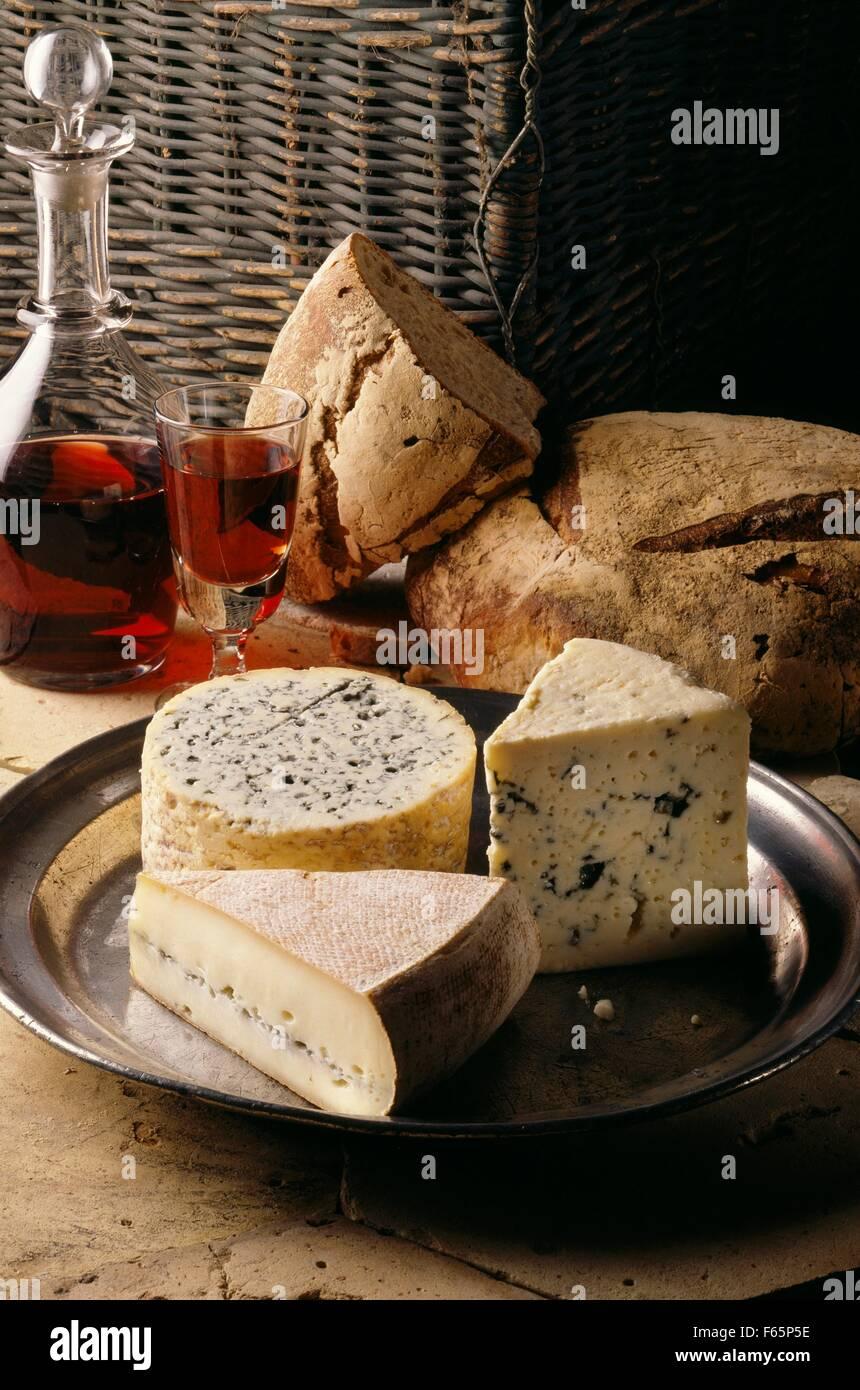 Sélection de fromages Banque D'Images