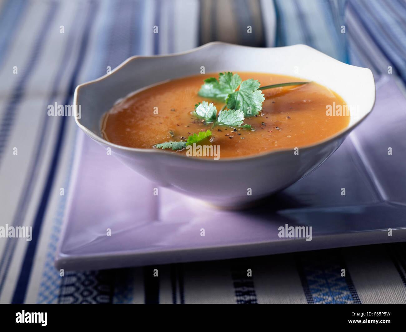 Soupe pomme sucrée Banque D'Images