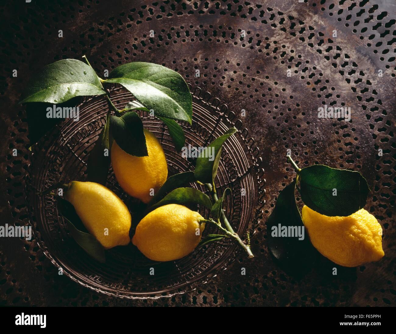 Les citrons de Menton Banque D'Images