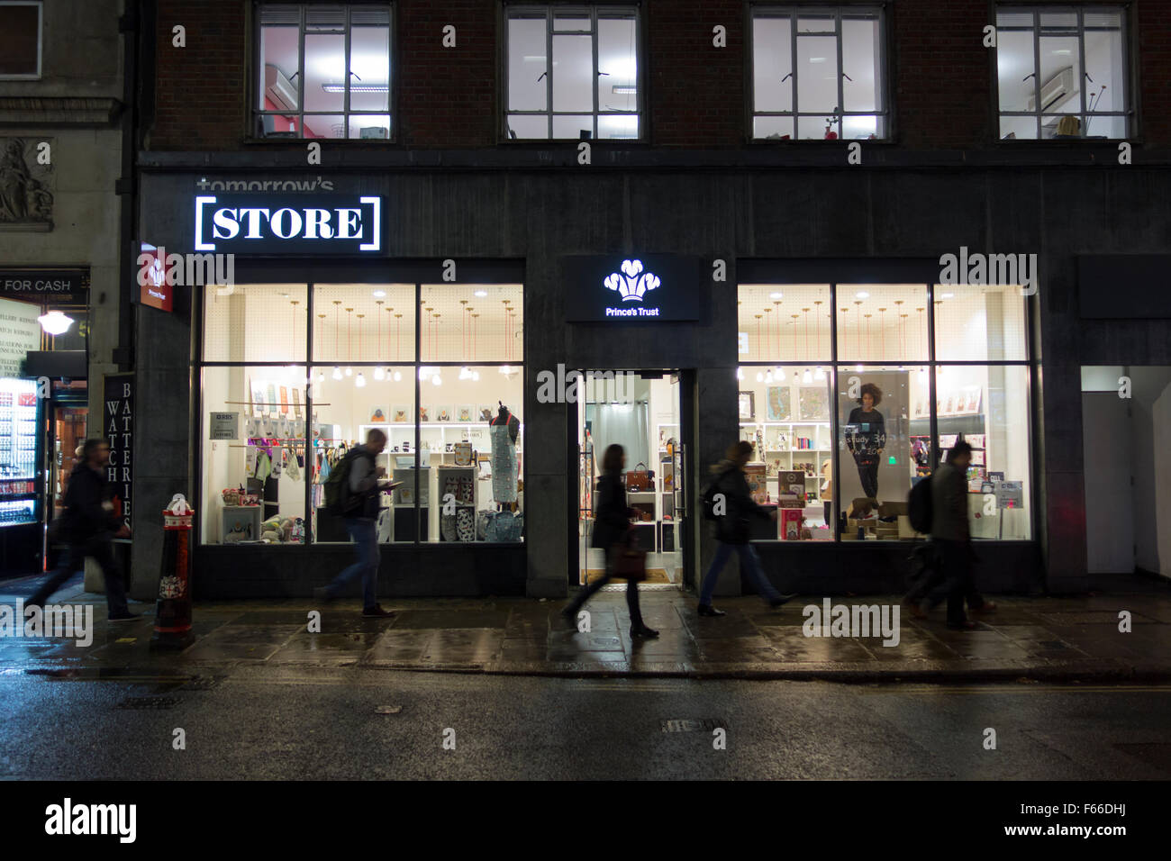 Prince's Trust Magasin de demain, Eldon St, Londres Photo Stock
