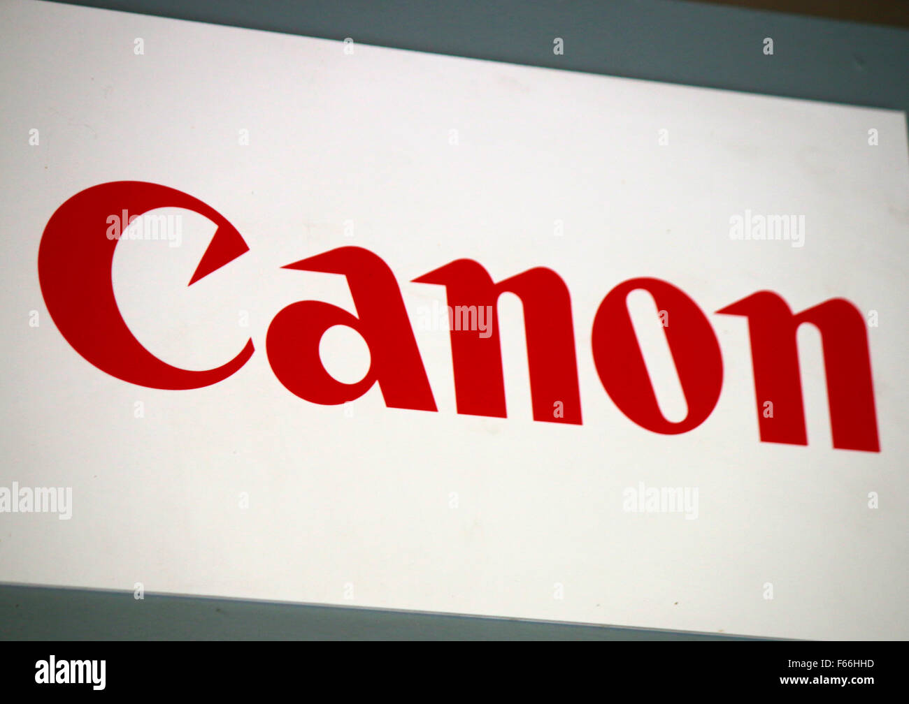 "Markennamen : ""Canon"", Berlin. Banque D'Images"