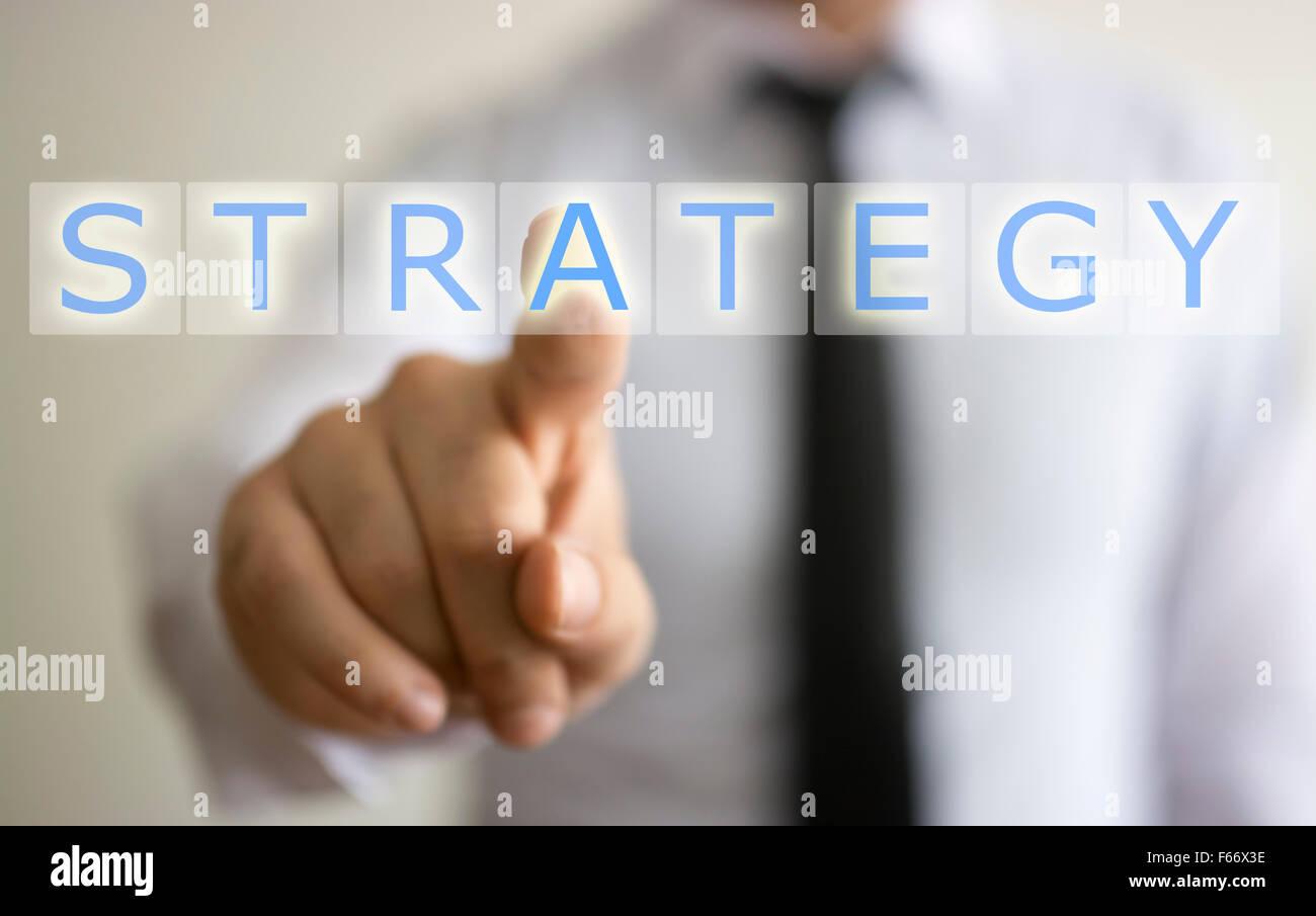 Concept d'affaires et stratégie Photo Stock