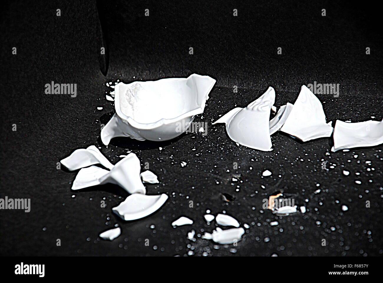 Vase brisé Banque D'Images