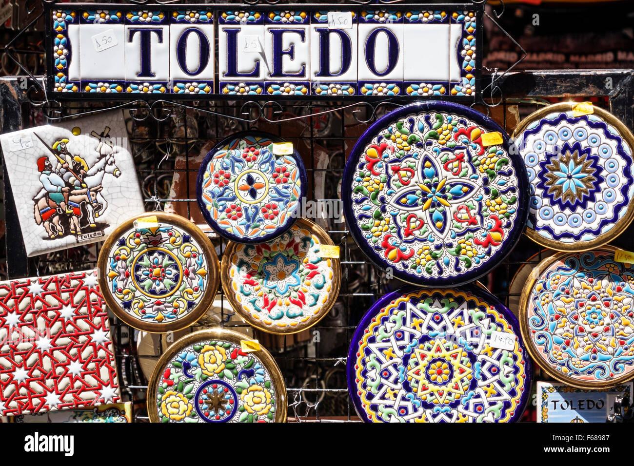Toledo Espagne Europe hispaniques espagnol cadeaux entreprise magasin  souvenirs céramique Talavera poterie Photo Stock cea131ba5e8