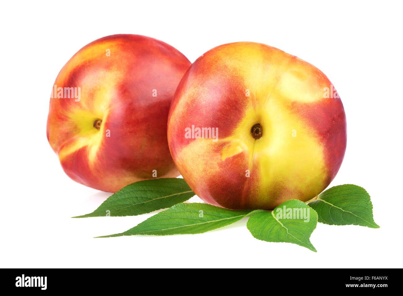 Nectarine Pêche Fruits Photo Stock