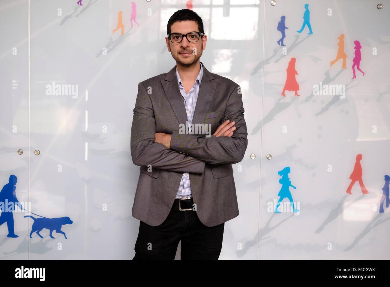 Bassam Beroumi un Arabe israélien société de haute technologie propriétaire en Israël Photo Stock