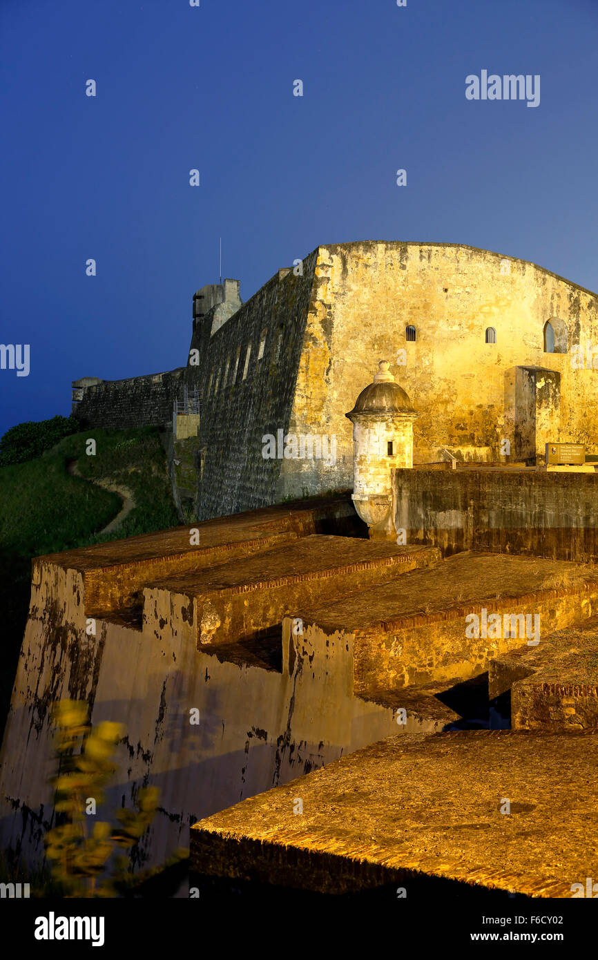 Château de San Cristobal, Site Historique National de San Juan, San Juan, Puerto Rico Photo Stock
