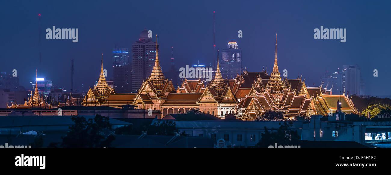 Panorama du Grand Palais à Bangkok Photo Stock