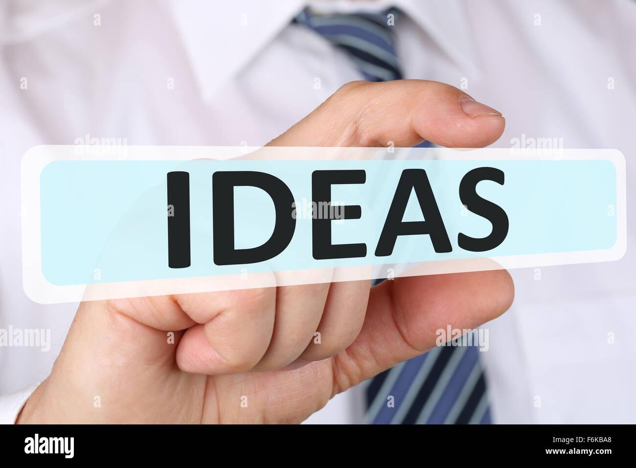 Businessman concept d'entreprise avec des idées pour la réussite du succès et de la croissance Photo Stock