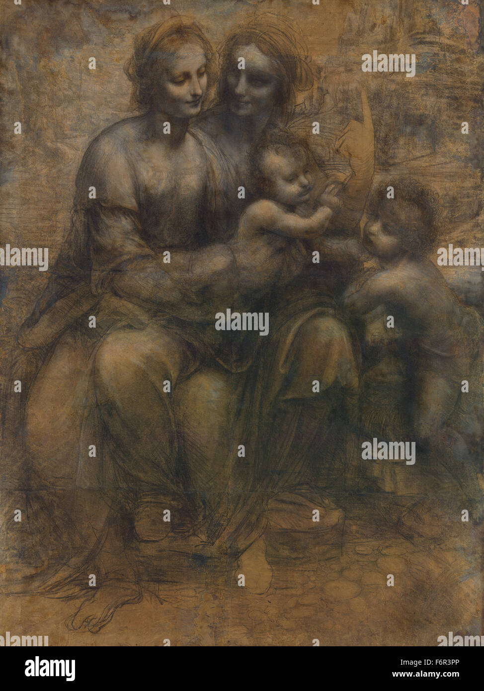 Leonardo da Vinci - The Burlington House Cartoon Photo Stock
