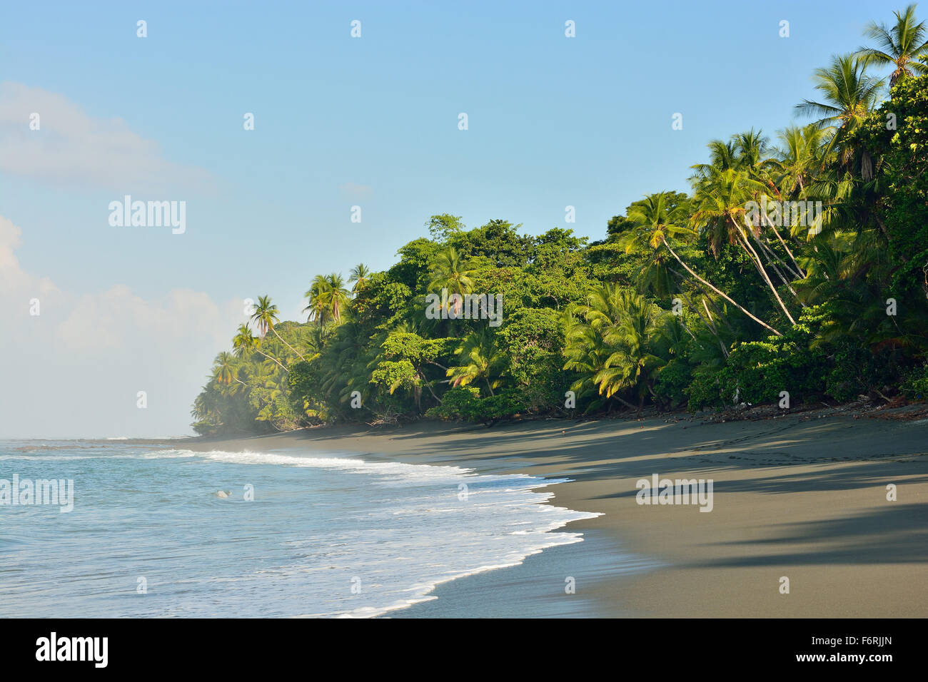 Plage dans le parc national de Corcovado du Costa Rica Photo Stock