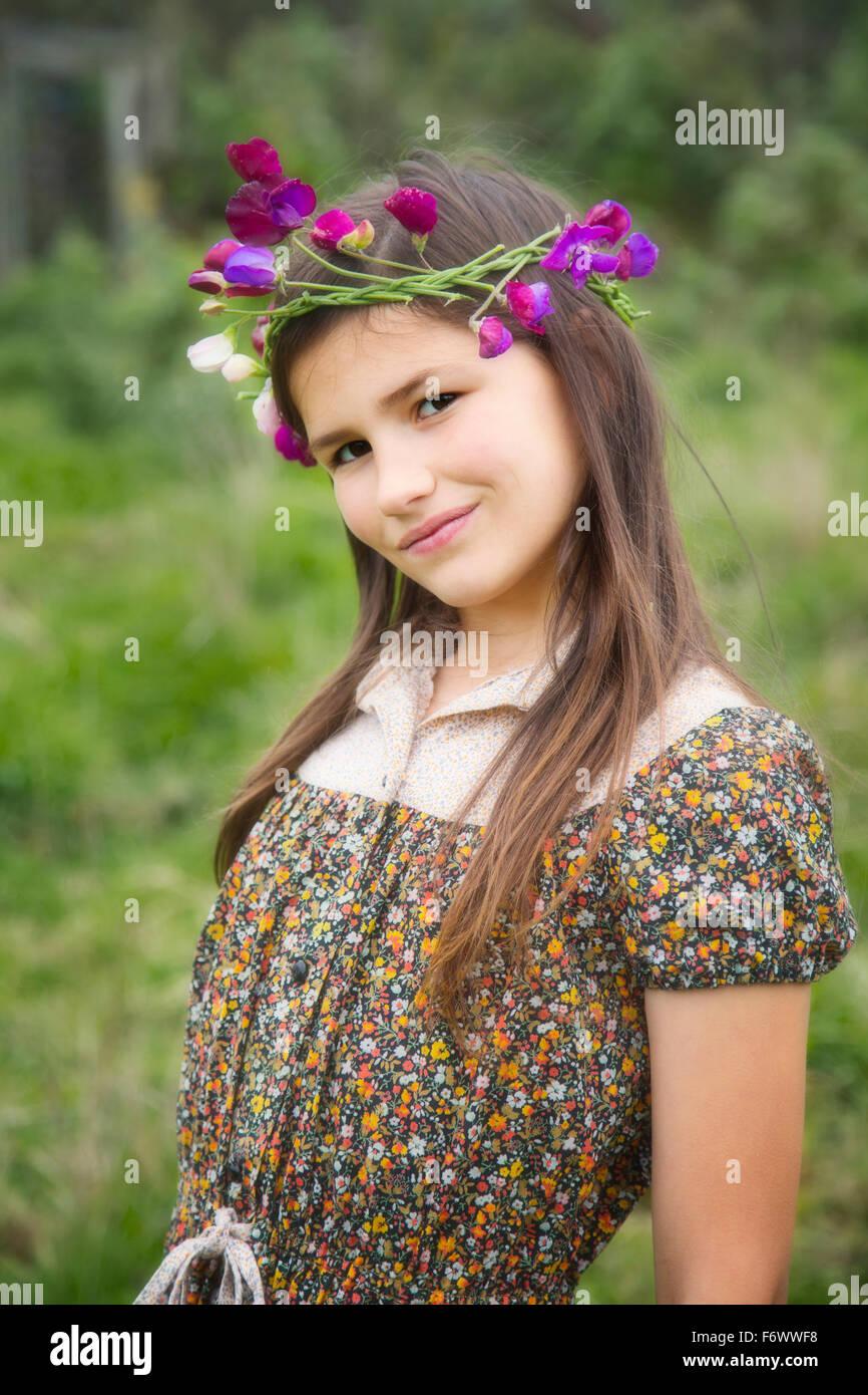 Une Belle Jeune Fille De La Campagne Photo Stock Alamy