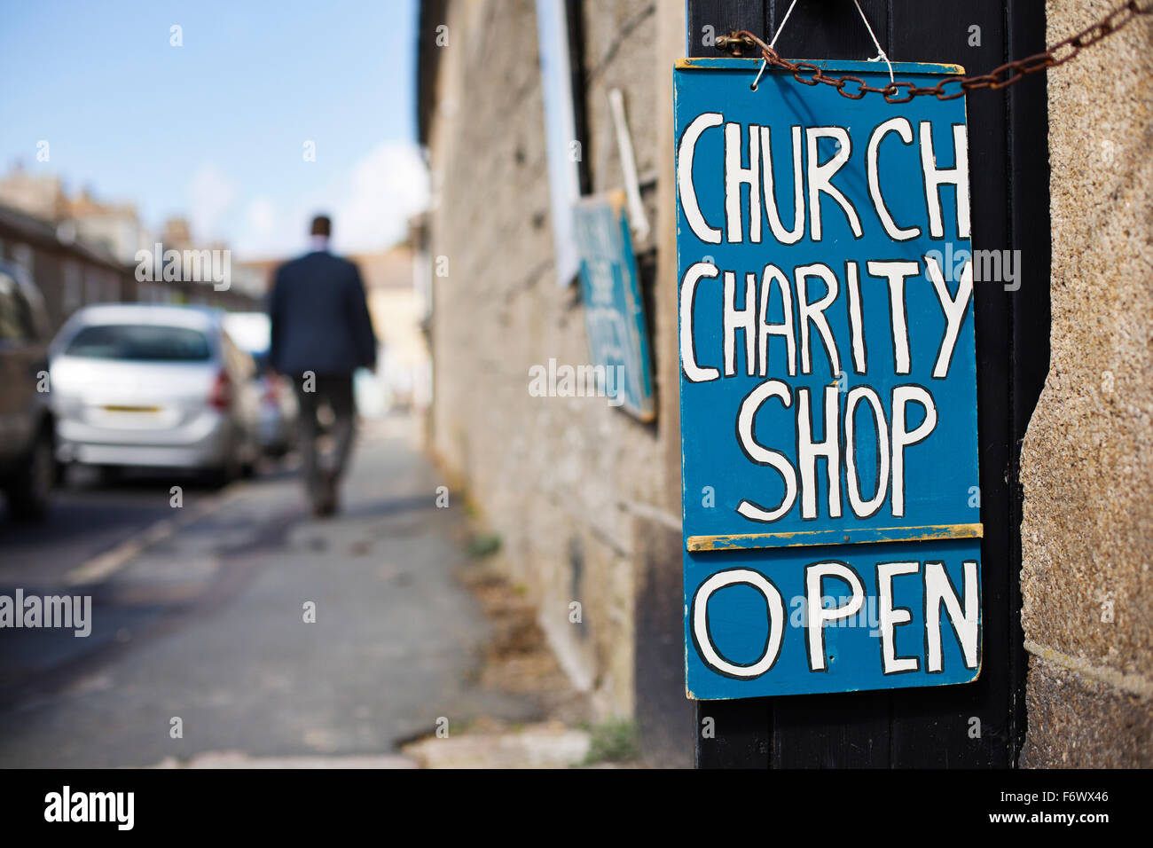 Un magasin de charité de l'Eglise dans les îles Scilly,Cornwall Photo Stock