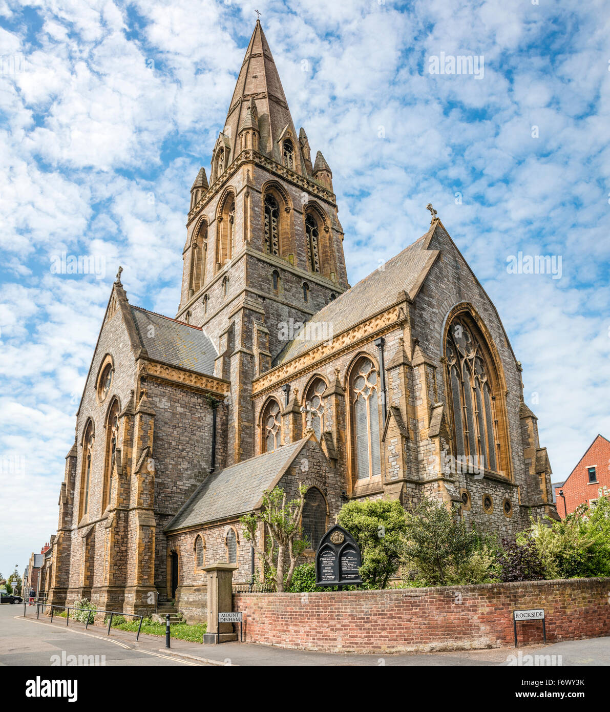 St Michel et tous les anges sur le mont Dinham, Exeter, Devon, UK Photo Stock
