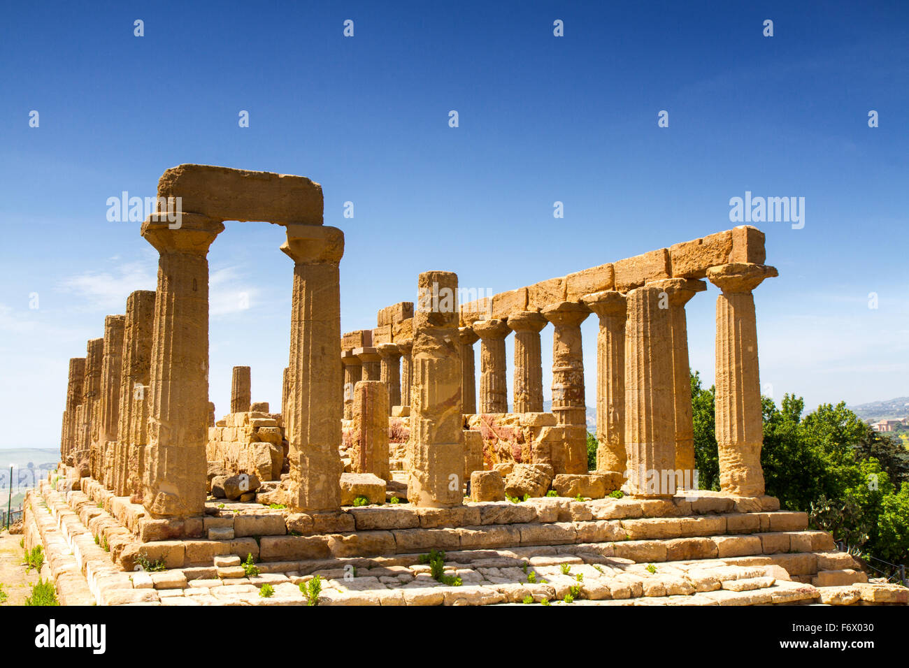 Temple grec de Junon, Agrigente, Sicile Photo Stock